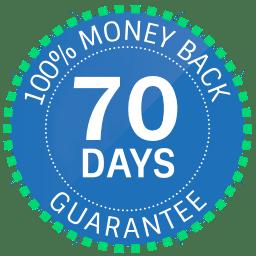70 Day Money Back Guarantee Emblem