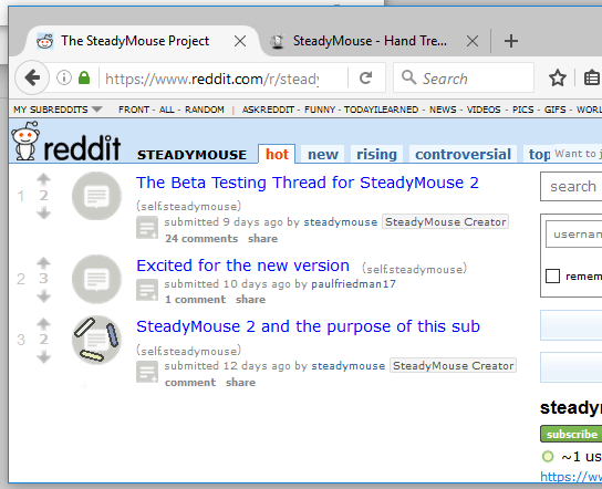 SteadyMouse - User Manual